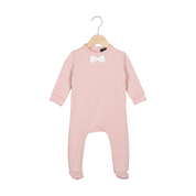 Bow Tie Babysuit Powder Pink