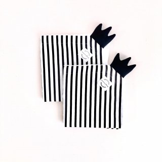 Towel Teether with Crown Stripe