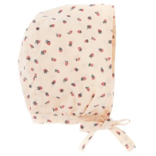 50% off SALE! Strawberry print bonnet