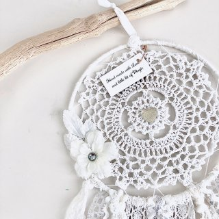 Dream Catcher - M size /// Flower White