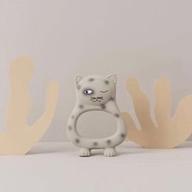Benny Cat Baby Teether Grey