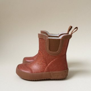 WELLY RUBBER BOOTS GLITTER /// ROSE BLUSH
