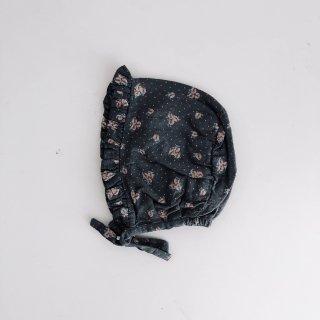 Flower Print Bonnet // DARK-GRAY