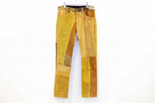 Children of the discordance / VINTAGE PATCH LEATHER PANTS(BROWN) - COLOR 1