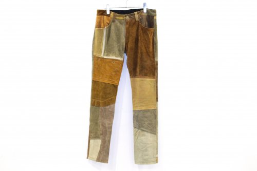 Children of the discordance / VINTAGE PATCH LEATHER PANTS(BROWN・SIZE2)