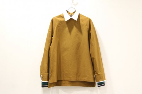 <img class='new_mark_img1' src='//img.shop-pro.jp/img/new/icons47.gif' style='border:none;display:inline;margin:0px;padding:0px;width:auto;' />NON TOKYO / PIPING-CUFFS PULLOVER SHIRT(MUSTARD)