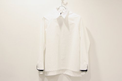 <img class='new_mark_img1' src='//img.shop-pro.jp/img/new/icons47.gif' style='border:none;display:inline;margin:0px;padding:0px;width:auto;' />NON TOKYO / PIPING-CUFFS PULLOVER SHIRT(WHITE)