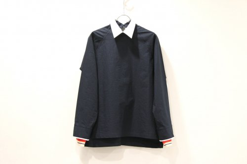 <img class='new_mark_img1' src='//img.shop-pro.jp/img/new/icons47.gif' style='border:none;display:inline;margin:0px;padding:0px;width:auto;' />NON TOKYO / PIPING-CUFFS PULLOVER SHIRT(NAVY)