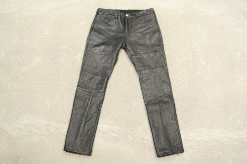 Children of the discordance / VINTAGE PATCH LEATHER PANTS(BLACK)
