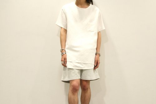 Children of the discordance / LEATHER EASY SHORTS(WHITE)