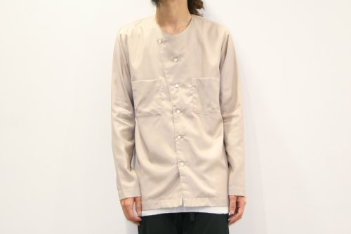 <img class='new_mark_img1' src='//img.shop-pro.jp/img/new/icons34.gif' style='border:none;display:inline;margin:0px;padding:0px;width:auto;' />CITY / no collar cut shirts(BEIGE)