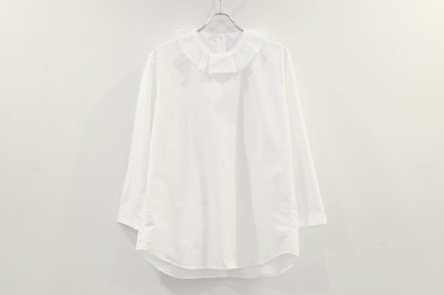 <img class='new_mark_img1' src='https://img.shop-pro.jp/img/new/icons47.gif' style='border:none;display:inline;margin:0px;padding:0px;width:auto;' />Natsumi Zama / Luxury Neck Shirt(WHITE)