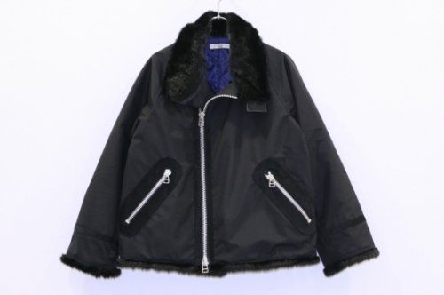 <img class='new_mark_img1' src='//img.shop-pro.jp/img/new/icons41.gif' style='border:none;display:inline;margin:0px;padding:0px;width:auto;' />NON TOKYO / FUR RIDERS JACKET(BLACK)