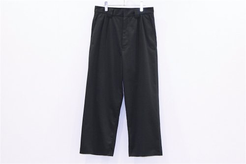 <img class='new_mark_img1' src='//img.shop-pro.jp/img/new/icons47.gif' style='border:none;display:inline;margin:0px;padding:0px;width:auto;' />THEE / WIDE typeA - 2tuck wide work pants(BLACK)