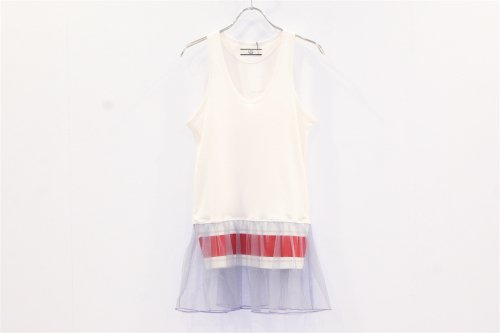 <img class='new_mark_img1' src='https://img.shop-pro.jp/img/new/icons47.gif' style='border:none;display:inline;margin:0px;padding:0px;width:auto;' />NON TOKYO / FRILL TANK-TOP(WHITE)