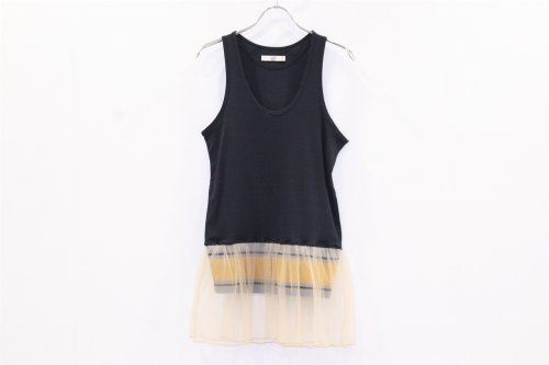 <img class='new_mark_img1' src='https://img.shop-pro.jp/img/new/icons47.gif' style='border:none;display:inline;margin:0px;padding:0px;width:auto;' />NON TOKYO / FRILL TANK-TOP(NAVY)