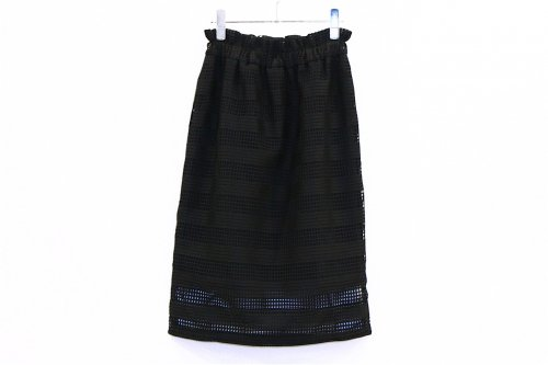 <img class='new_mark_img1' src='//img.shop-pro.jp/img/new/icons47.gif' style='border:none;display:inline;margin:0px;padding:0px;width:auto;' />Natsumi Zama /Fence Lace Skirt(BLACK)
