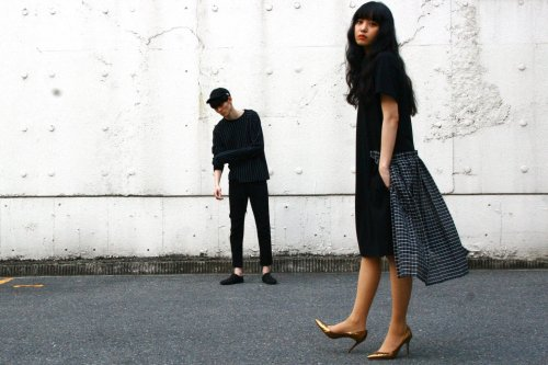 <img class='new_mark_img1' src='//img.shop-pro.jp/img/new/icons2.gif' style='border:none;display:inline;margin:0px;padding:0px;width:auto;' />Natsumi Zama /White Line T-shirt Dress(BLACK)