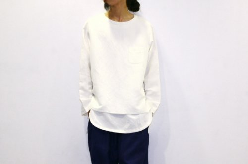 <img class='new_mark_img1' src='//img.shop-pro.jp/img/new/icons2.gif' style='border:none;display:inline;margin:0px;padding:0px;width:auto;' />THEE / LINEN LONG SLEEVE TEE(WHITE)