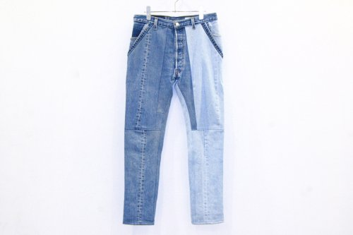 <img class='new_mark_img1' src='//img.shop-pro.jp/img/new/icons41.gif' style='border:none;display:inline;margin:0px;padding:0px;width:auto;' />The Attractman / PATCH WORK DENIM(BLUE)