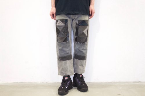 <img class='new_mark_img1' src='//img.shop-pro.jp/img/new/icons2.gif' style='border:none;display:inline;margin:0px;padding:0px;width:auto;' />Children of the discordance / OLD PATCH DENIM PANTS(BLACK・SIZE2) pattern A