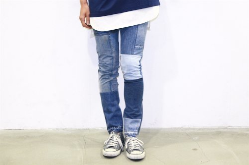 <img class='new_mark_img1' src='https://img.shop-pro.jp/img/new/icons47.gif' style='border:none;display:inline;margin:0px;padding:0px;width:auto;' />Children of the discordance / VINTAGE PATCH DENIM PANTS(BLUE・SIZE1) pattern A
