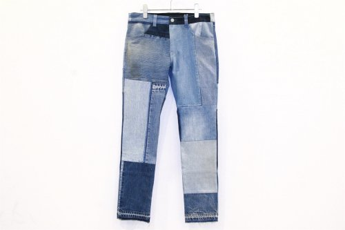 <img class='new_mark_img1' src='//img.shop-pro.jp/img/new/icons2.gif' style='border:none;display:inline;margin:0px;padding:0px;width:auto;' />Children of the discordance / VINTAGE PATCH DENIM PANTS(BLUE・SIZE2)