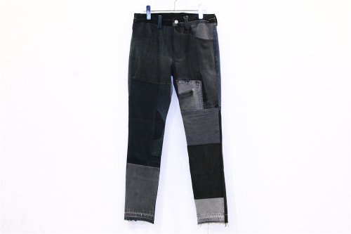 <img class='new_mark_img1' src='//img.shop-pro.jp/img/new/icons47.gif' style='border:none;display:inline;margin:0px;padding:0px;width:auto;' />Children of the discordance / VINTAGE PATCH DENIM PANTS(BLACK・SIZE1)