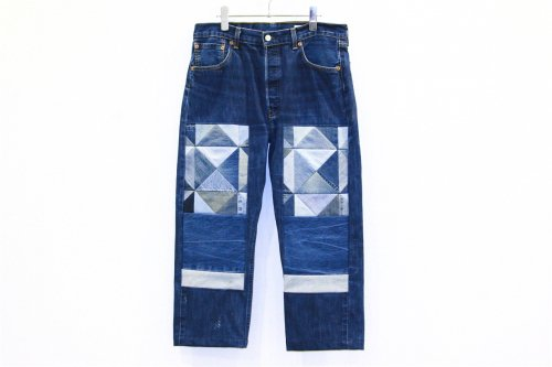 <img class='new_mark_img1' src='//img.shop-pro.jp/img/new/icons2.gif' style='border:none;display:inline;margin:0px;padding:0px;width:auto;' />Children of the discordance / OLD PATCH DENIM PANTS(BLUE・SIZE2)