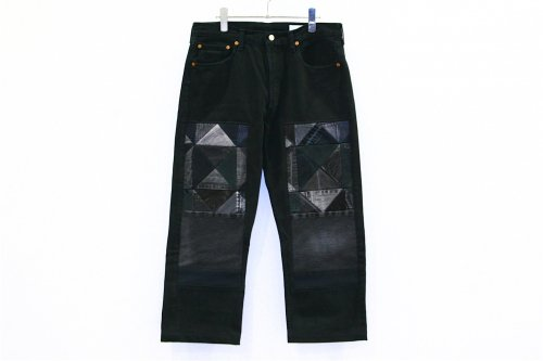 <img class='new_mark_img1' src='//img.shop-pro.jp/img/new/icons2.gif' style='border:none;display:inline;margin:0px;padding:0px;width:auto;' />Children of the discordance / OLD PATCH DENIM PANTS(BLACK・SIZE2) pattern C