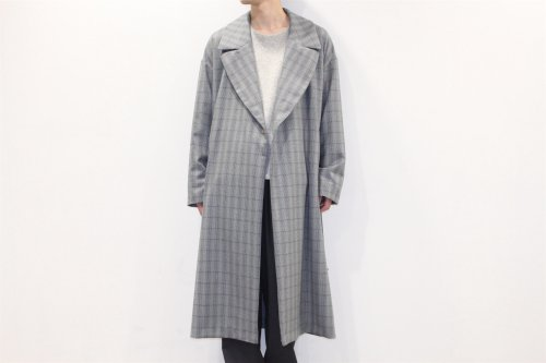 <img class='new_mark_img1' src='//img.shop-pro.jp/img/new/icons20.gif' style='border:none;display:inline;margin:0px;padding:0px;width:auto;' />ATELIER BÉTON / WOOL CHECK CONCEAL TRENCH COAT(GRAY)
