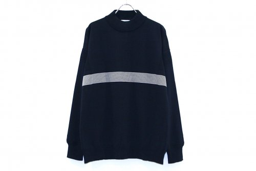 <img class='new_mark_img1' src='//img.shop-pro.jp/img/new/icons47.gif' style='border:none;display:inline;margin:0px;padding:0px;width:auto;' />YASHIKI /Kaiko Line Mock Knit(NAVY)