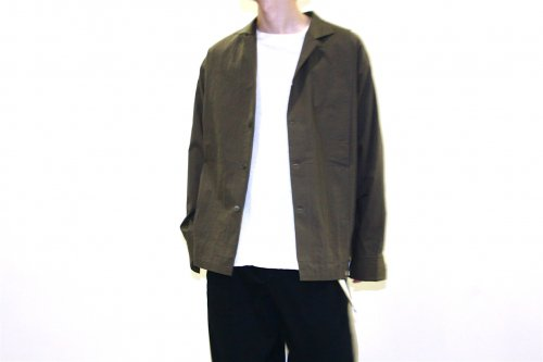 <img class='new_mark_img1' src='https://img.shop-pro.jp/img/new/icons47.gif' style='border:none;display:inline;margin:0px;padding:0px;width:auto;' />SAMSARA / OPEN NECKED SHIRT(KHAKI)