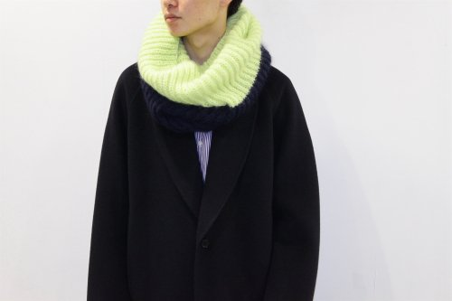 <img class='new_mark_img1' src='//img.shop-pro.jp/img/new/icons2.gif' style='border:none;display:inline;margin:0px;padding:0px;width:auto;' />REALITY STUDIO / Snood muffler(LIME×NAVY)