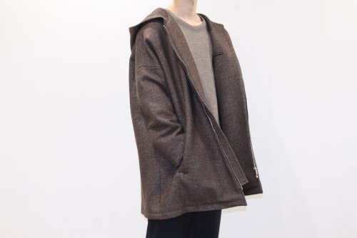 house of the very island's... / OVERSIZED HOOD COAT(BROWN)