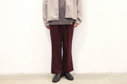 <img class='new_mark_img1' src='https://img.shop-pro.jp/img/new/icons47.gif' style='border:none;display:inline;margin:0px;padding:0px;width:auto;' />THEE / straight easy slacks(BURGUNDY)