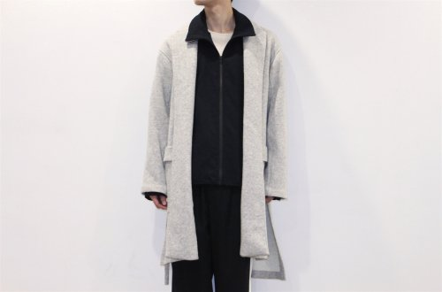 <img class='new_mark_img1' src='//img.shop-pro.jp/img/new/icons47.gif' style='border:none;display:inline;margin:0px;padding:0px;width:auto;' />THEE /w-face knit gown coat(GRAY)
