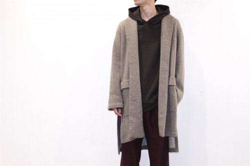 <img class='new_mark_img1' src='//img.shop-pro.jp/img/new/icons47.gif' style='border:none;display:inline;margin:0px;padding:0px;width:auto;' />THEE /w-face knit gown coat(BROWN)