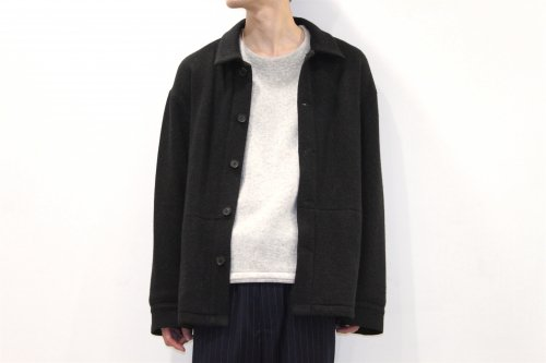<img class='new_mark_img1' src='//img.shop-pro.jp/img/new/icons2.gif' style='border:none;display:inline;margin:0px;padding:0px;width:auto;' />THEE /w-face utility knit jacket(BLACK)
