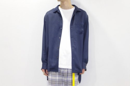 <img class='new_mark_img1' src='//img.shop-pro.jp/img/new/icons2.gif' style='border:none;display:inline;margin:0px;padding:0px;width:auto;' />THEE / open collar shirts(NAVY)