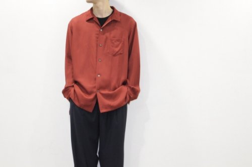 <img class='new_mark_img1' src='//img.shop-pro.jp/img/new/icons2.gif' style='border:none;display:inline;margin:0px;padding:0px;width:auto;' />THEE / open collar shirts(BURGUNDY)