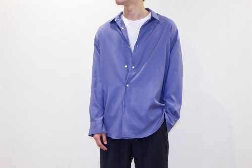 <img class='new_mark_img1' src='//img.shop-pro.jp/img/new/icons2.gif' style='border:none;display:inline;margin:0px;padding:0px;width:auto;' />THEE / double-buttoned shirts.(BLUE)
