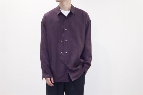 <img class='new_mark_img1' src='//img.shop-pro.jp/img/new/icons2.gif' style='border:none;display:inline;margin:0px;padding:0px;width:auto;' />THEE / double-buttoned shirts.(PURPLE)