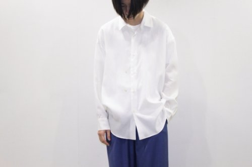<img class='new_mark_img1' src='//img.shop-pro.jp/img/new/icons2.gif' style='border:none;display:inline;margin:0px;padding:0px;width:auto;' />THEE / double-buttoned shirts.(WHITE)