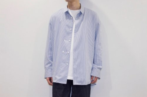 <img class='new_mark_img1' src='//img.shop-pro.jp/img/new/icons2.gif' style='border:none;display:inline;margin:0px;padding:0px;width:auto;' />THEE / double-buttoned shirts.(STRIPE)