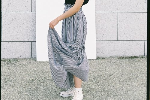 <img class='new_mark_img1' src='https://img.shop-pro.jp/img/new/icons47.gif' style='border:none;display:inline;margin:0px;padding:0px;width:auto;' />Natsumi Zama / CROSSWALK SKIRT(STRIPE)