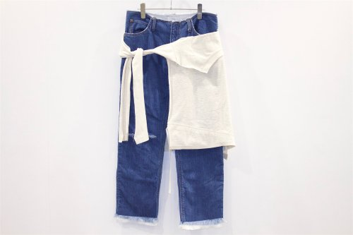 <img class='new_mark_img1' src='//img.shop-pro.jp/img/new/icons2.gif' style='border:none;display:inline;margin:0px;padding:0px;width:auto;' />THEE / W-face cut off denim for ATTEMPT(01)
