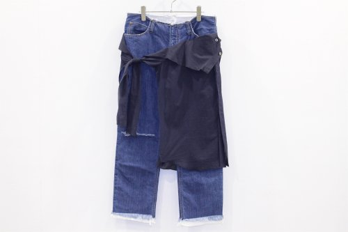 <img class='new_mark_img1' src='//img.shop-pro.jp/img/new/icons2.gif' style='border:none;display:inline;margin:0px;padding:0px;width:auto;' />THEE / W-face cut off denim for ATTEMPT(03)
