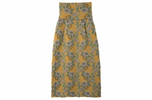 <img class='new_mark_img1' src='//img.shop-pro.jp/img/new/icons55.gif' style='border:none;display:inline;margin:0px;padding:0px;width:auto;' />TAN / FLOWER MOTIF SKIRT(MUSTARD)