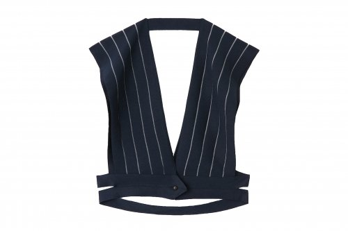 <img class='new_mark_img1' src='//img.shop-pro.jp/img/new/icons47.gif' style='border:none;display:inline;margin:0px;padding:0px;width:auto;' />TAN / STRIPES GILET(NAVY)